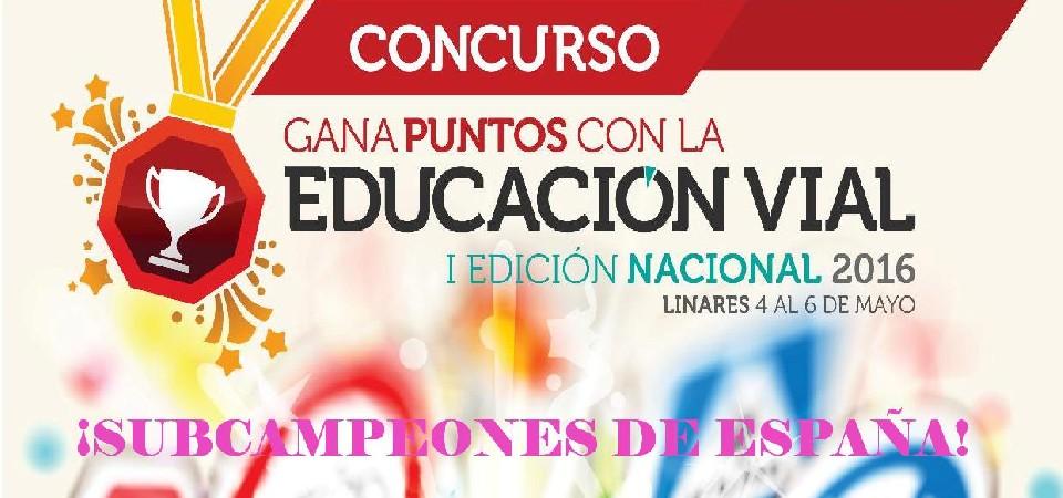 CONCURSO GANA PUNTOS CON LA EDUCACIÓN VIAL 2015-2016 1
